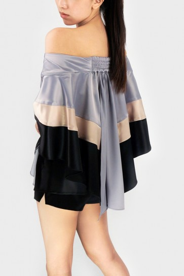 The Circus Off-Shoulder Batwing Sleeved Top
