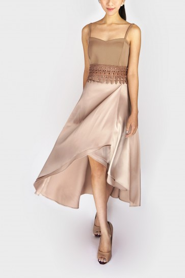 Pamela Tulip Maxi Skirt - Champaign