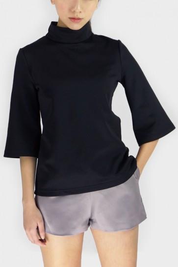 Whitney Turtleneck Top - Black