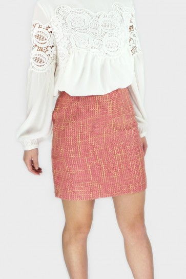 Rosie Textured Skirt - Pink