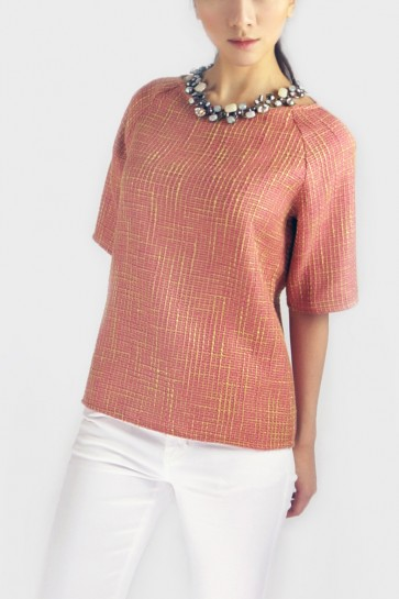 Rosie Textured Top - Pink