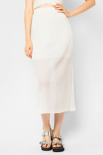 Libby Pleated Maxi Skirt - White