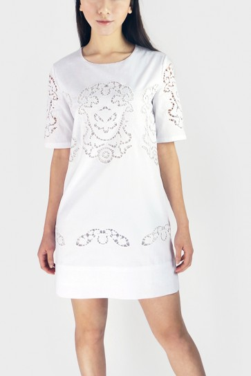 Cut-Work Tunic Dress