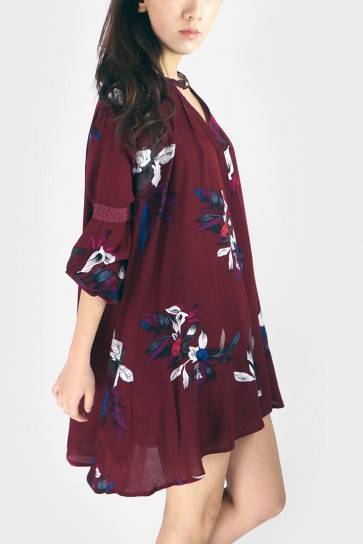 Floral Swing Tunic Dress