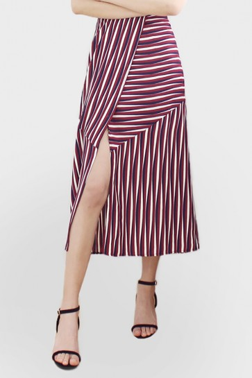 Striped Maxi Pencil Skirt