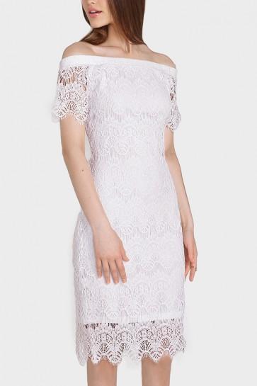 2-Way Laced Cold Shoulder Dress