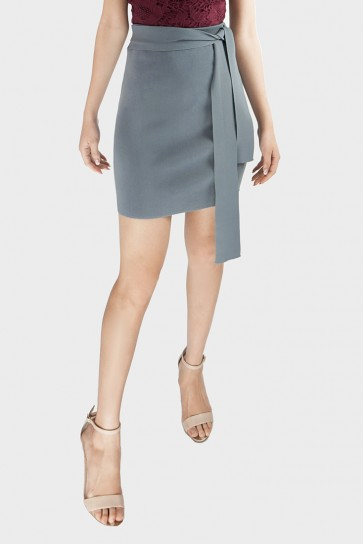 Lenora Tie-Waist Knitted Skirt