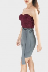 Lenora Tie-Waist Knitted Skirt
