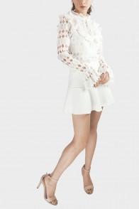 Sascha Victorian Lace Top - White