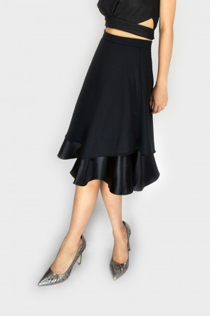 Black Dreams Flare Midi Skirt
