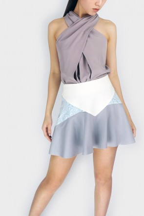 Roco Flounce Hem Mini Skirt