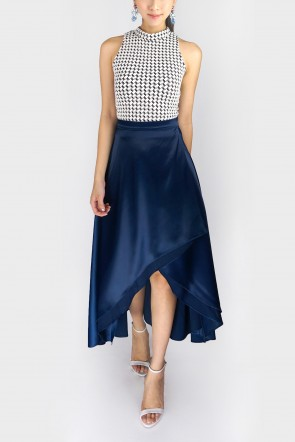 Pamela Tulip Maxi Skirt - Navy