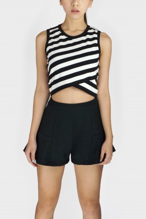 Dallas Striped Crop Top