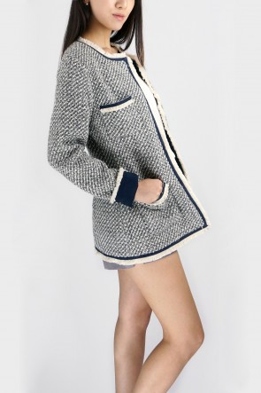 Elliot Collarless Boucle Jacket