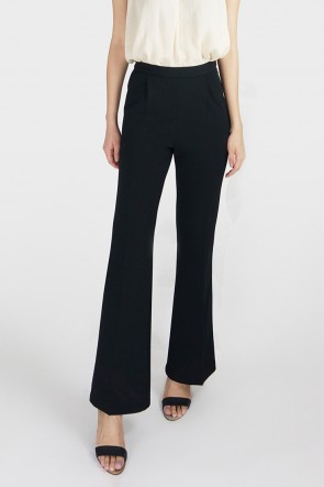 Classic High Waist Flared Trousers