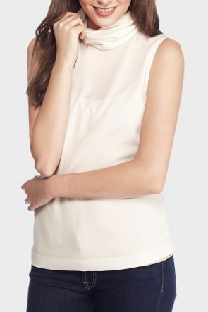 Plains Roll Neck Top - Cream