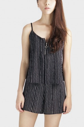 Stripe Layered Playsuit