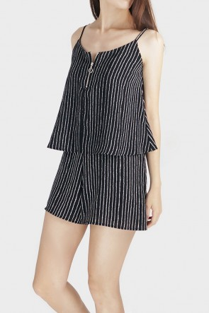 Heidi Stripe Layered Playsuit